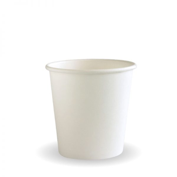 BioPak White Single Wall Hot Cups