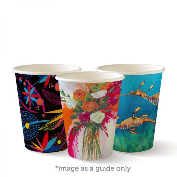 BioPak Art Series Single Wall Hot Cups