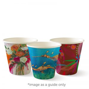 BioPak Art Series Single Wall Hot Cups