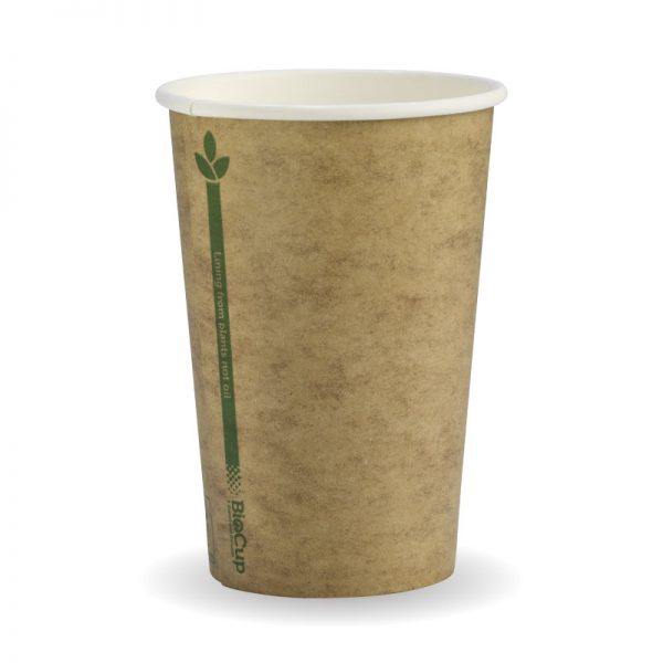 BioPak Kraft Green Line Hot Cups