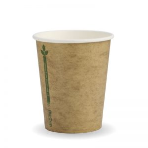 BioPak Kraft Green Line Hot Cups