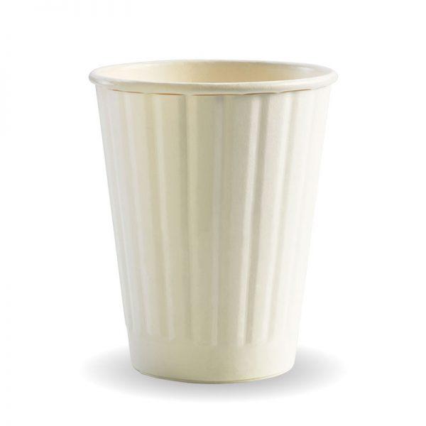 BioPak White Double Wall Hot Cups