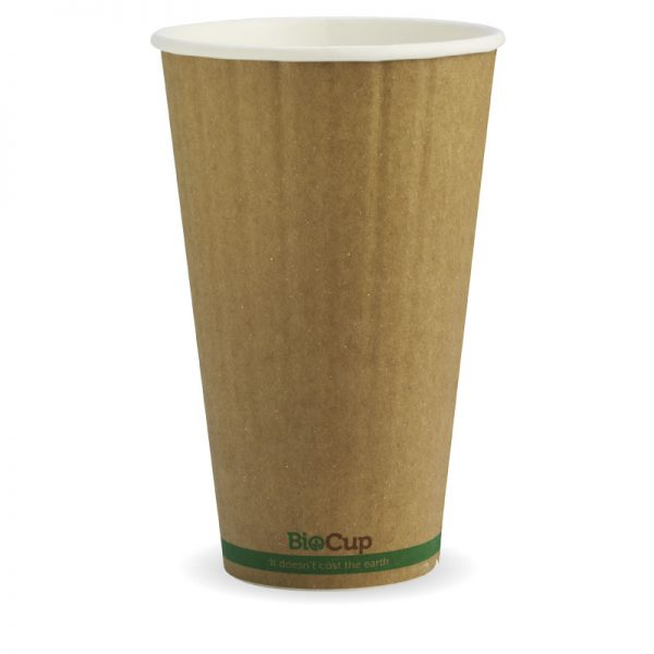 BioPak Kraft Double Wall Hot Cups