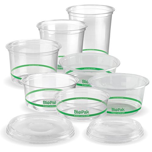 BioPak Clear BioDeli Bowls & Lids