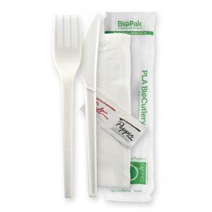 BioPak 100% BioPlastic PLA Cutlery Sets