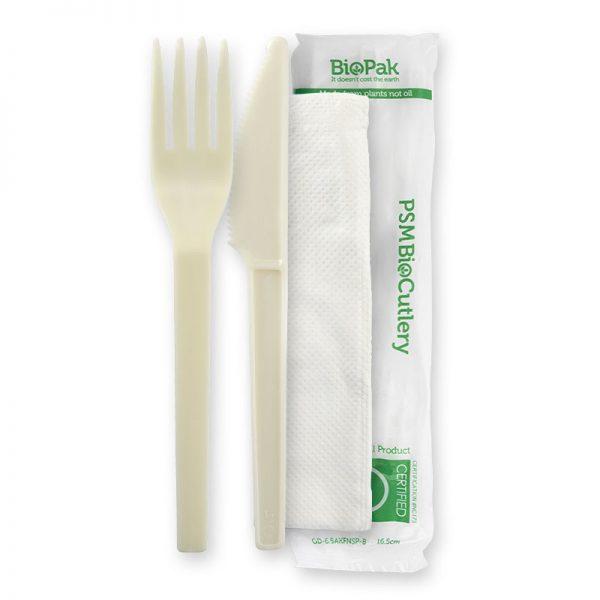 BioPak 70% BioPlastic PSM Cutlery Sets